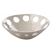 Handmade Decorative Aluminum (Mexican Pewter) Circles Centerpiece with Bright Silver finish