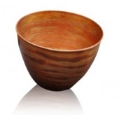 Handmade Copper Fire Bowl in Natural Finish